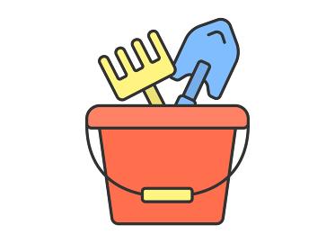 砂場で使う道具のセット
