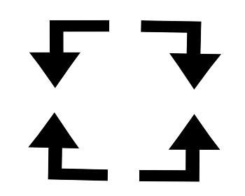 出会い頭のイメージ素材「シルエット」