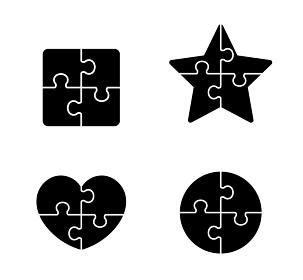 パズルの組み合わせ 図形