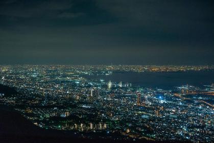 摩耶山展望台からの景色と夜景