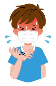熱中症、マスクをしている、男の子