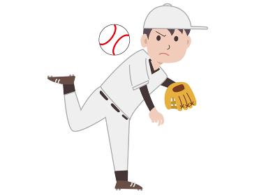 スポーツ 野球 ピッチャー 男性