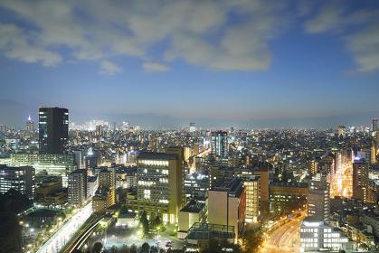 東京都 文京シビックセンターからの眺め 新宿副都心(左奥)