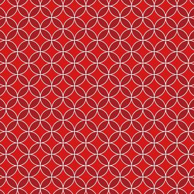 花七宝模様 赤×赤×白 3