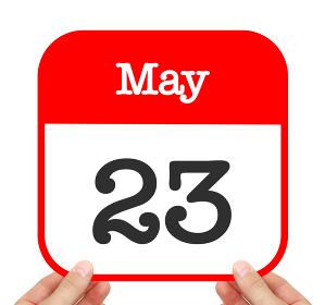 May 23 written on a calendar