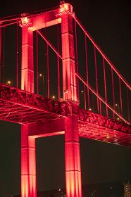 若戸大橋と洞海湾の夜景