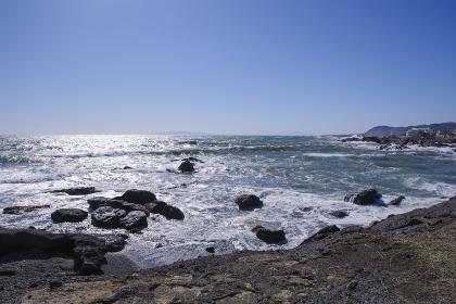 房総半島南端から見る伊豆大島