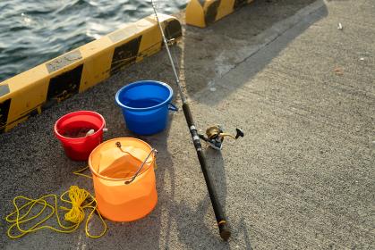 防波堤の釣り道具