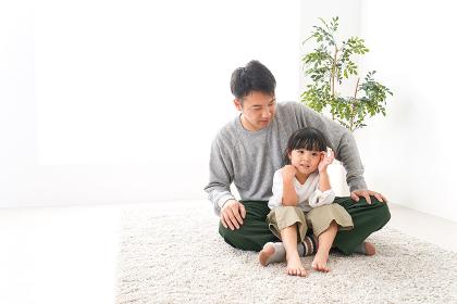 女の子とお父さん