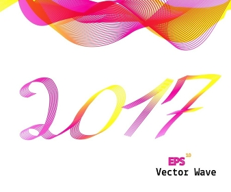 Abstract Colored Wave on Background 2017. Vector Illustration. EPS10. Abstract Colored Wave on Background 2017. Vector Illustration.