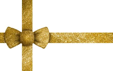 リボン素材 ゴールド