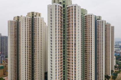 Tin Shui Wai, Hong Kong, 27 August 2018:- Hong Kong residential district