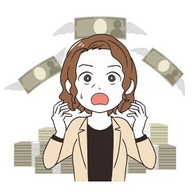 出費に悩む 年配女性 会社員