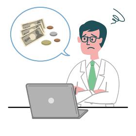 医師 医者 男性 パソコン お金 困っている