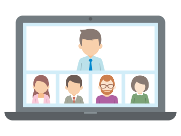 テレワーク リモートワーク オンライン ビデオ会議 ノートパソコン