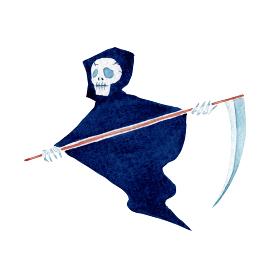 死神 ハロウィン ハロウィーン モンスター 水彩 イラスト