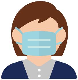 新型コロナウイルス・インフルエンザ・花粉症 / 女性会社員・OL アイコン