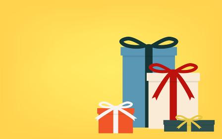 プレゼントのギフトボックスのセット