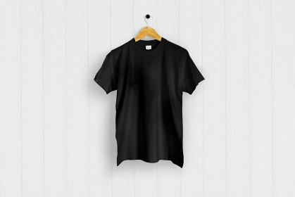 黒色のTシャツ 白バック 5477