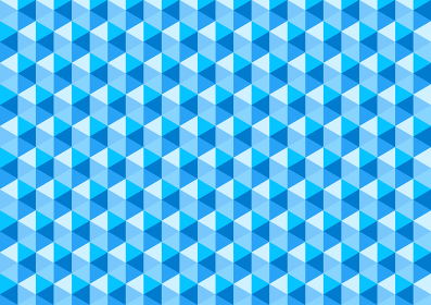 アブストラクト ポリゴンC ブルー