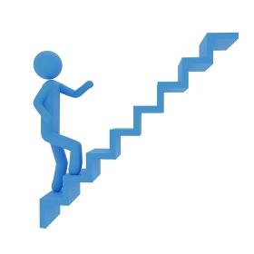 階段を登るピクトグラム3DCG