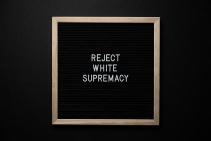 Black Lives Matter Protest Sign on a black background , Boise, ID, United States
