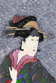浮世絵 女性 その18 油絵バージョン