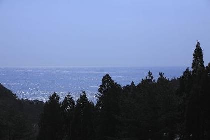 三陸碁石海岸水平線
