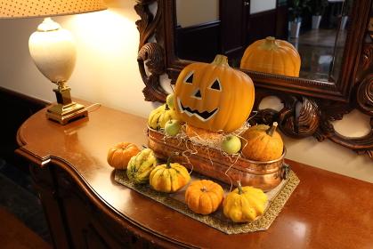 たくさんのかぼちゃのハロウィン飾り