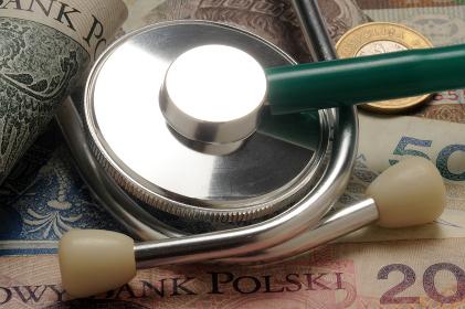 Stethoscope on polish złoty