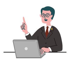 スーツ 男性 士業 パソコン 提案