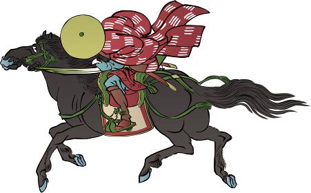 浮世絵 馬に乗っている人 その2