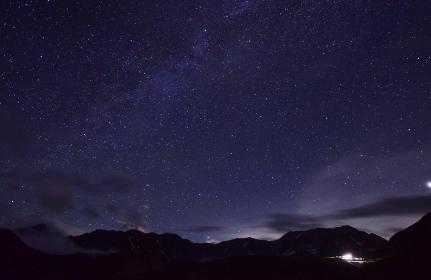 北アルプス 満天の星空