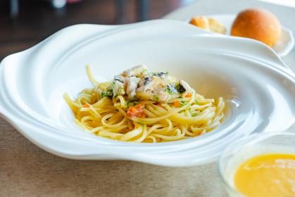 魚介類のパスタ ランチ レストラン コース料理