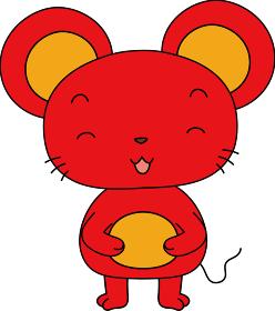 干支 十二支 ネズミ かわいいポーズ集 マスコットキャラクター 年賀状