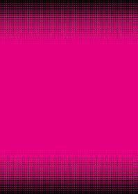 ドットのグラデーション ハーフトーンスクリーン パターンの背景イラスト マゼンダ上下帯