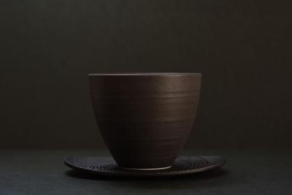 黒い茶器を使ったグラフィック素材