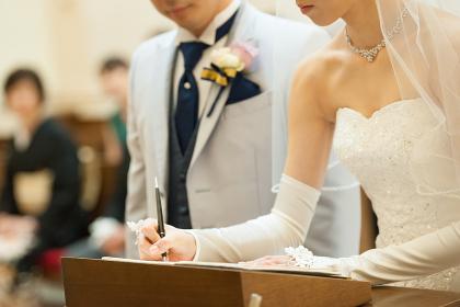 結婚証明書 サイン 署名 ウェディング ブライダル チャペル