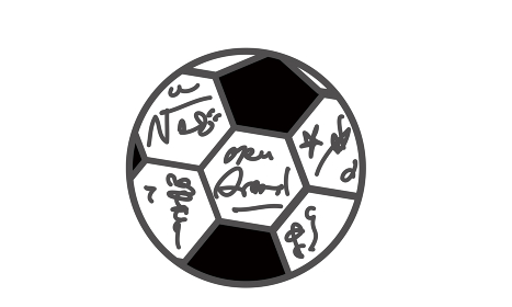 サイン入りサッカーボール