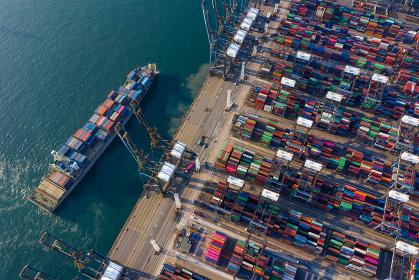 Kwai Tsing, Hong Kong, 12 February 2019:- Kwai Tsing Container Terminals