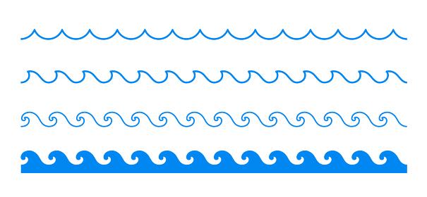波のラインセット