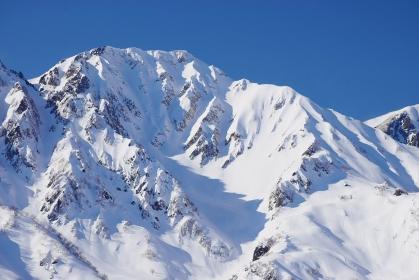 白馬八方尾根から望む杓子岳
