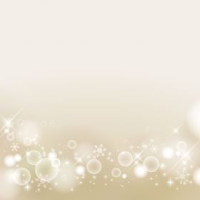 冬イメージの抽象背景 雪の結晶 キラキラ 高級感(シャンパンゴールド)