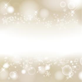 冬イメージの抽象背景 雪の結晶 キラキラ 高級感 上下に装飾(ゴールド)