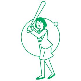 スポーツ 女性 野球・ソフトボール