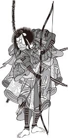 浮世絵 歌舞伎役者 その66 白黒