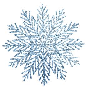 キラキラした雪の結晶 素材 単体