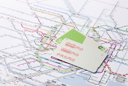ICカードと都心の路線図