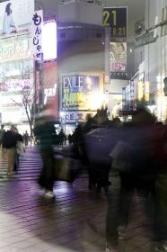 節電中の渋谷