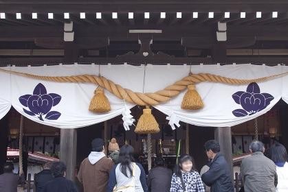 橘神社のしめ縄